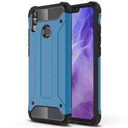 King Kong Armor Premium Shockproof Dual Layer Rugged Hard Cover for Huawei Honor 8X - Sky Blue