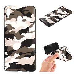 Camouflage Soft TPU Back Cover for Huawei Honor 8X - Black White