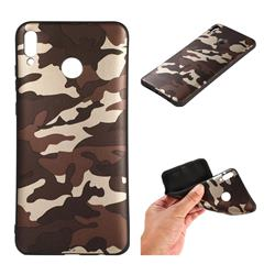 Camouflage Soft TPU Back Cover for Huawei Honor 8X - Gold Coffee