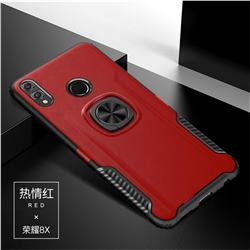 Knight Armor Anti Drop PC + Silicone Invisible Ring Holder Phone Cover for Huawei Honor 8X - Red