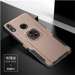 Knight Armor Anti Drop PC + Silicone Invisible Ring Holder Phone Cover for Huawei Honor 8X - Rose Gold