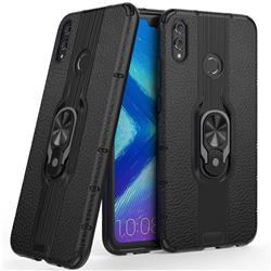 Alita Battle Angel Armor Metal Ring Grip Shockproof Dual Layer Rugged Hard Cover for Huawei Honor 8X - Black