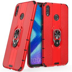 Alita Battle Angel Armor Metal Ring Grip Shockproof Dual Layer Rugged Hard Cover for Huawei Honor 8X - Red