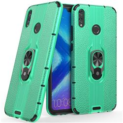 Alita Battle Angel Armor Metal Ring Grip Shockproof Dual Layer Rugged Hard Cover for Huawei Honor 8X - Green