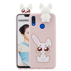 Cute Rabbit Soft 3D Climbing Doll Stand Soft Case for Huawei Honor 8X