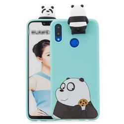 Striped Bear Soft 3D Climbing Doll Stand Soft Case for Huawei Honor 8X