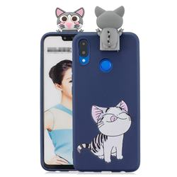 Grinning Cat Soft 3D Climbing Doll Stand Soft Case for Huawei Honor 8X