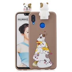 Hamster Family Soft 3D Climbing Doll Stand Soft Case for Huawei Honor 8X