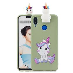 Cute Unicorn Soft 3D Climbing Doll Stand Soft Case for Huawei Honor 8X