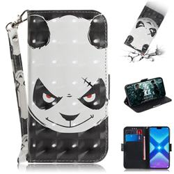 Angry Bear 3D Painted Leather Wallet Phone Case for Huawei Honor 8X