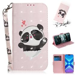 Heart Cat 3D Painted Leather Wallet Phone Case for Huawei Honor 8X