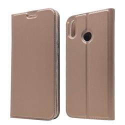 Ultra Slim Card Magnetic Automatic Suction Leather Wallet Case for Huawei Honor 8X - Rose Gold
