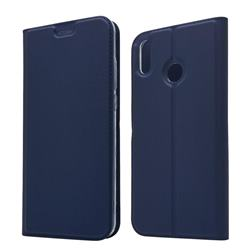 Ultra Slim Card Magnetic Automatic Suction Leather Wallet Case for Huawei Honor 8X - Royal Blue