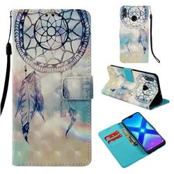 Fantasy Campanula 3D Painted Leather Wallet Case for Huawei Honor 8X