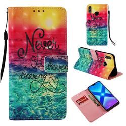 Colorful Dream Catcher 3D Painted Leather Wallet Case for Huawei Honor 8X