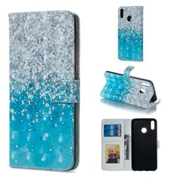 Sea Sand 3D Painted Leather Phone Wallet Case for Huawei Honor 8X