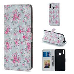 Roses Flower 3D Painted Leather Phone Wallet Case for Huawei Honor 8X