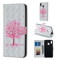 Sakura Flower Tree 3D Painted Leather Phone Wallet Case for Huawei Honor 8X