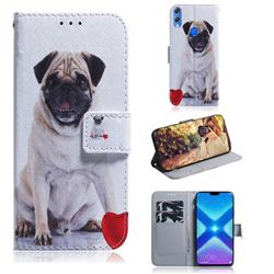 Pug Dog PU Leather Wallet Case for Huawei Honor 8X