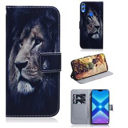 Lion Face PU Leather Wallet Case for Huawei Honor 8X
