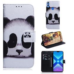 Sleeping Panda PU Leather Wallet Case for Huawei Honor 8X