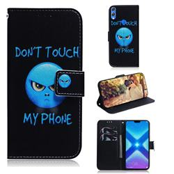 Not Touch My Phone PU Leather Wallet Case for Huawei Honor 8X