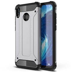 King Kong Armor Premium Shockproof Dual Layer Rugged Hard Cover for Huawei Honor 8X Max(Enjoy Max) - Silver Grey