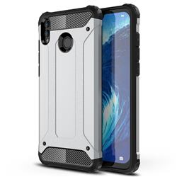 King Kong Armor Premium Shockproof Dual Layer Rugged Hard Cover for Huawei Honor 8X Max(Enjoy Max) - Technology Silver