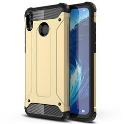 King Kong Armor Premium Shockproof Dual Layer Rugged Hard Cover for Huawei Honor 8X Max(Enjoy Max) - Champagne Gold
