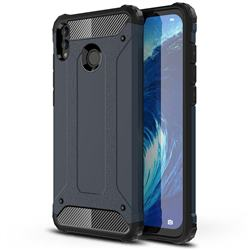King Kong Armor Premium Shockproof Dual Layer Rugged Hard Cover for Huawei Honor 8X Max(Enjoy Max) - Navy