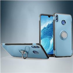 Armor Anti Drop Carbon PC + Silicon Invisible Ring Holder Phone Case for Huawei Honor 8X Max(Enjoy Max) - Navy