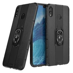 Alita Battle Angel Armor Metal Ring Grip Shockproof Dual Layer Rugged Hard Cover for Huawei Honor 8X Max(Enjoy Max) - Black