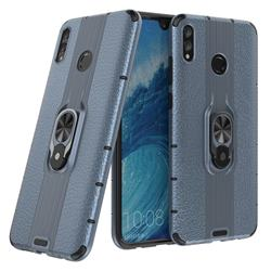 Alita Battle Angel Armor Metal Ring Grip Shockproof Dual Layer Rugged Hard Cover for Huawei Honor 8X Max(Enjoy Max) - Blue