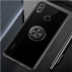 Anti-fall Invisible Press Bounce Ring Holder Phone Cover for Huawei Honor 8X Max(Enjoy Max) - Elegant Black