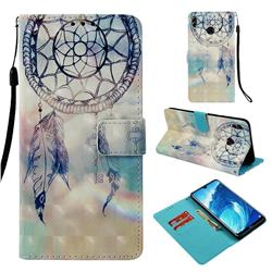 Fantasy Campanula 3D Painted Leather Wallet Case for Huawei Honor 8X Max(Enjoy Max)
