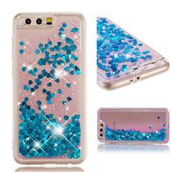 Dynamic Liquid Glitter Quicksand Sequins TPU Phone Case for Huawei Honor 9 - Blue