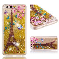 Golden Tower Dynamic Liquid Glitter Quicksand Soft TPU Case for Huawei Honor 9