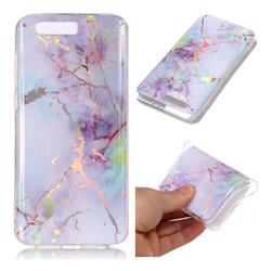 Pink Purple Marble Pattern Bright Color Laser Soft TPU Case for Huawei Honor 9