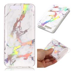 White Marble Pattern Bright Color Laser Soft TPU Case for Huawei Honor 9