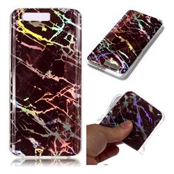Black Brown Marble Pattern Bright Color Laser Soft TPU Case for Huawei Honor 9