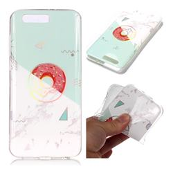 Donuts Marble Pattern Bright Color Laser Soft TPU Case for Huawei Honor 9