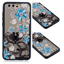 Lilac Lace Diamond Flower Soft TPU Back Cover for Huawei Honor 9