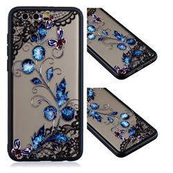 Butterfly Lace Diamond Flower Soft TPU Back Cover for Huawei Honor 9