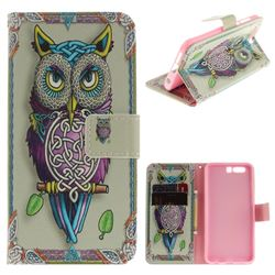 Weave Owl PU Leather Wallet Case for Huawei Honor 9