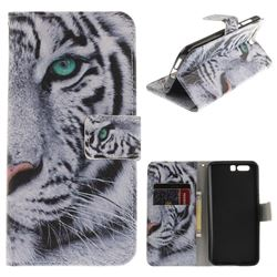 White Tiger PU Leather Wallet Case for Huawei Honor 9