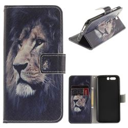 Lion Face PU Leather Wallet Case for Huawei Honor 9