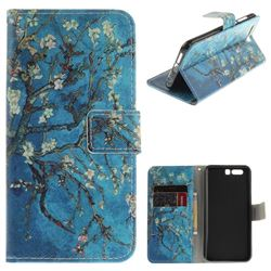Apricot Tree PU Leather Wallet Case for Huawei Honor 9