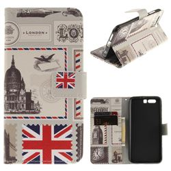 London Envelope PU Leather Wallet Case for Huawei Honor 9