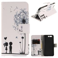 Couple Dandelion PU Leather Wallet Case for Huawei Honor 9