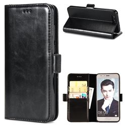 Luxury Crazy Horse PU Leather Wallet Case for Huawei Honor 9 - Black
